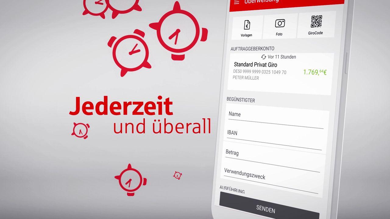 Video zum Thema Mobile Banking mit der App Sparkasse